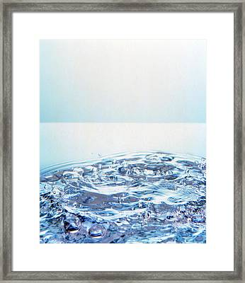 Churning Water Bubbles In Bright Light Framed Print by Panoramic Images