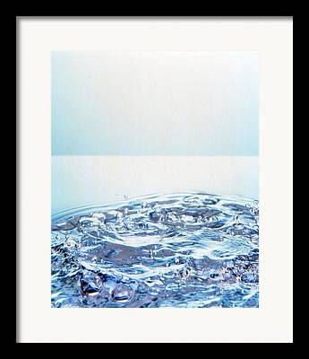Bubbles In Water Framed Prints