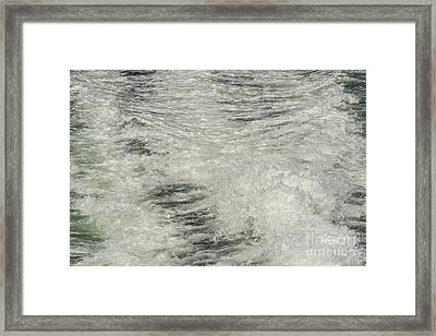 Churning Water Framed Print