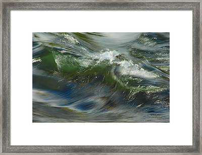 Churning Waters Framed Print by Donna Blackhall