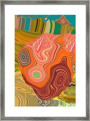 Churning Waves Of Change Framed Print