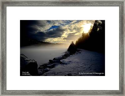 Chute Lake Winter Framed Print by Guy Hoffman