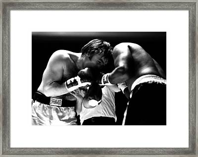 Chuvalo In A Clinch Framed Print