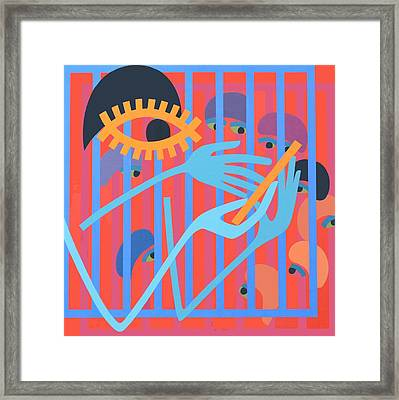 Cica, 1966 Acrylic On Board Framed Print by Ron Waddams