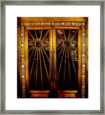 Cicada Club Doors Framed Print