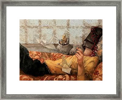 Cicogna Da Passeggio Framed Print by Guido Borelli