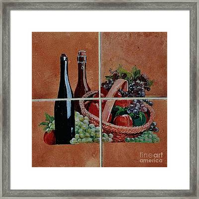 Cider And Apple Basket Framed Print by Andrew Drozdowicz