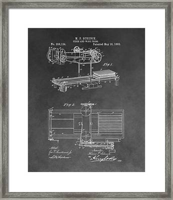 Cider And Wine Press Framed Print