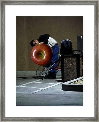 Cider Rider Framed Print by Lin Haring