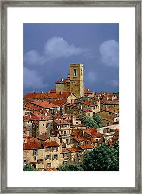 Cielo A Pecorelle Framed Print by Guido Borelli