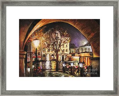 Cieszyn At Night Framed Print