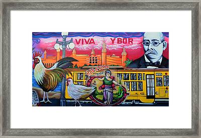 Cigar City Street Mural Framed Print by David Lee Thompson