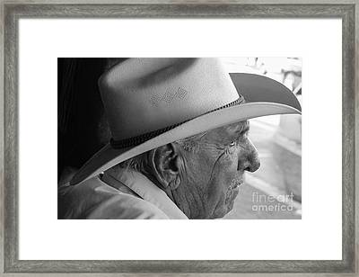 Cigar Maker Remembering His Past Framed Print by Rene Triay Photography