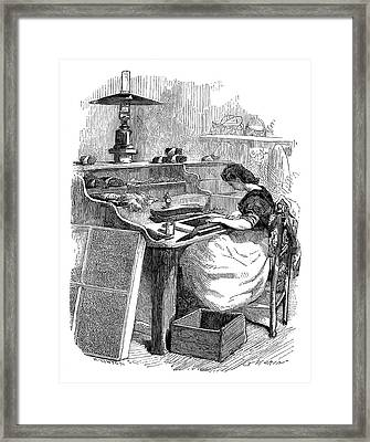 Cigar Production Framed Print