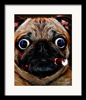 Warm Fuzzy Puppy Framed Prints