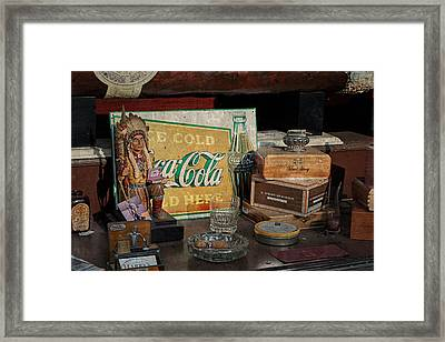 Cigar Store Window Framed Print by Michael Porchik