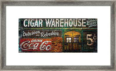Cigar Warehouse Framed Print