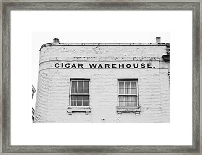 Framed Print featuring the photograph Cigar Warehouse by Ross Henton