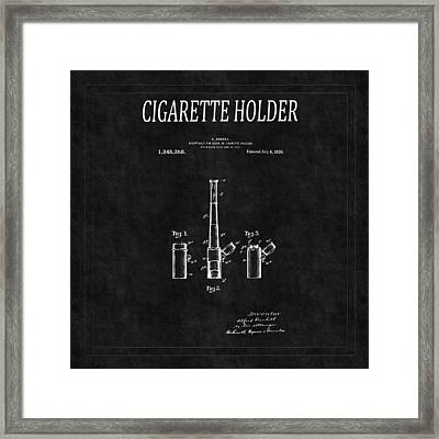 Cigarette Holder Patent 2 Framed Print