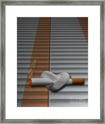Cigarette Knot Framed Print by Mike Agliolo