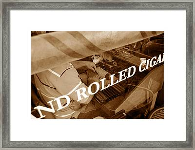 Cigars The Old Fashion Way Framed Print by David Lee Thompson