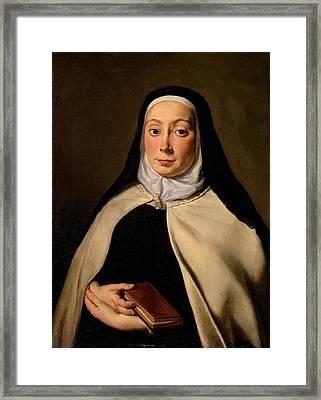 Cignani Carlo, Portrait Of A Nun, 17th Framed Print by Everett