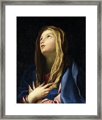 Cignani Carlo, The Virgin Mary , 17th Framed Print by Everett