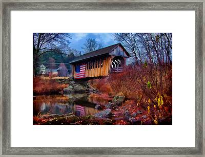 Cilleyville Covered Bridge Framed Print