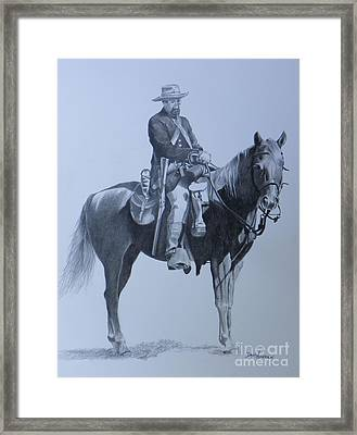 Cilvil War Soldier   Two Framed Print by David Ackerson