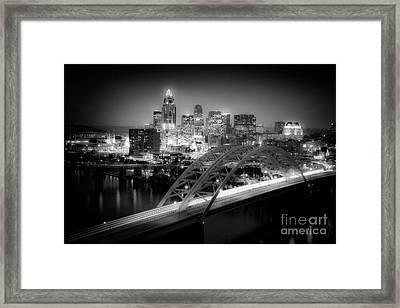 Cincinnati A New Perspective Framed Print by Kimberly Nickoson