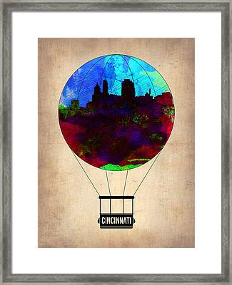 Cincinnati Air Baloon Framed Print