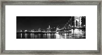 Cincinnati At Night Framed Print