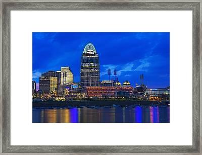 Cincinnati At Sunset Framed Print