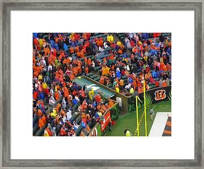 Cincinnati Bengals Fans Framed Print by Dan Sproul