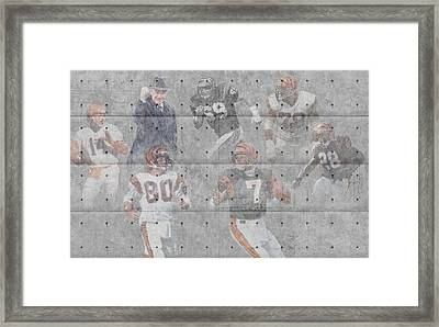 Cincinnati Bengals Legends Framed Print
