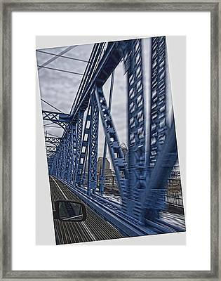 Cincinnati Bridge Framed Print by Daniel Sheldon