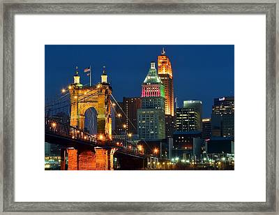 Cincinnati Close Up Framed Print by Frozen in Time Fine Art Photography