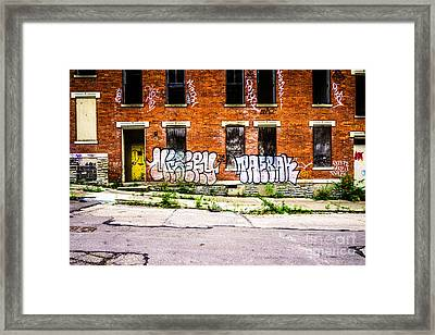 Cincinnati Glencoe Auburn Place Graffiti Photo Framed Print by Paul Velgos