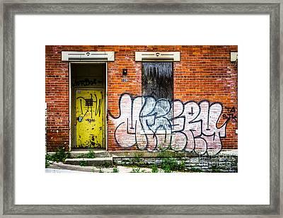 Cincinnati Glencoe Auburn Place Graffiti Picture Framed Print by Paul Velgos