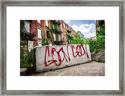 Cincinnati Glencoe Hole Graffiti Picture Framed Print by Paul Velgos