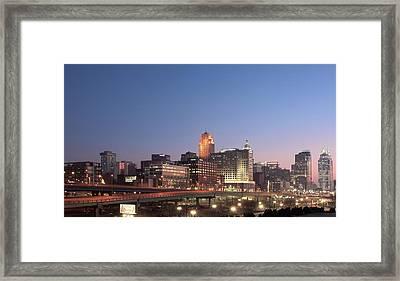 Cincinnati In Morning Twilight Framed Print