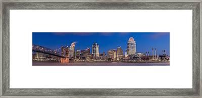 Cincinnati Morning Twilight Framed Print