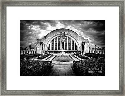 Cincinnati Museum Center Black And White Picture Framed Print