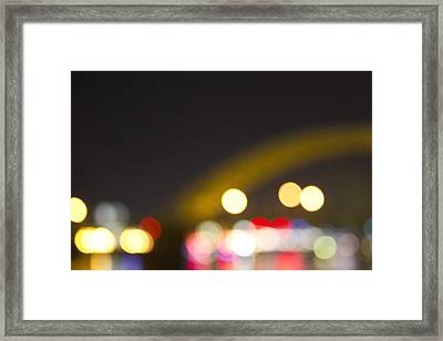 Cincinnati Night Lights Framed Print by Daniel Sheldon