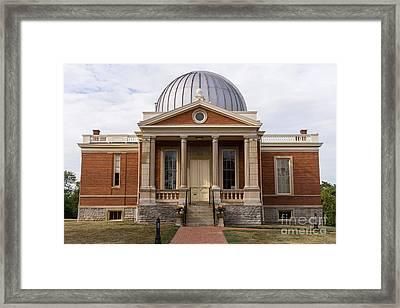 Cincinnati Observatory In Cincinnati Ohio Framed Print by Paul Velgos