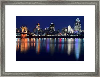 Cincinnati Ohio Blue Hour Framed Print