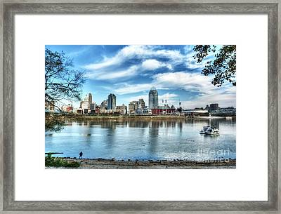 Cincinnati On The Ohio River Framed Print