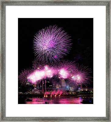 Cincinnati Reds Fireworks Friday Framed Print