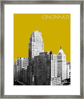 Cincinnati Skyline 2 - Gold Framed Print