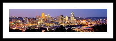 Cincinnati Skyline Framed Prints